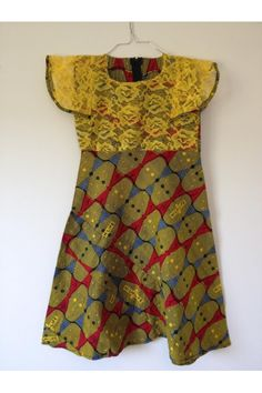 Robe africaine Wax | Fille 6-8 ans | Mode Africaine Enfant | Pagne N°34