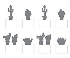 Set di 8 etichette adesive per prese elettriche Piante Grasse, 13x7 cm