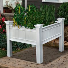 New England Mayfair Raised Planter Box #gardendesign #saveyourback