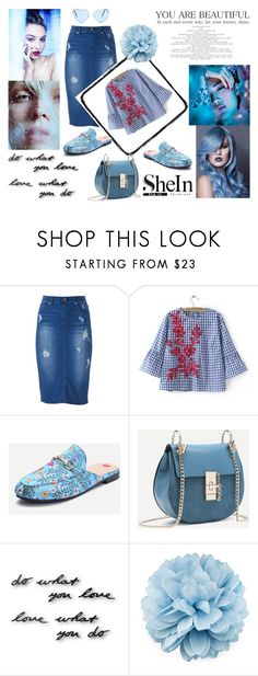 """""""Shein contest"""" by adancetovic ❤ liked on Polyvore featuring Jennifer Lopez, Umbra and Gucci"""