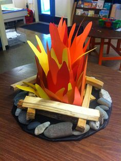 Campfire for Camp Read Day Más Vbs Crafts, Diy And Crafts, Paper Crafts, Camping Parties, Camping Theme, Camping Tips, Cave Quest Vbs, Off The Map, Vacation Bible School