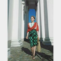 """205 gilla-markeringar, 8 kommentarer - Marianne (@mariannehenriikka) på Instagram: """"#ootd This 50s skirt belonged to my late aunt. It had been taken to pieces and layed around in my…"""""""