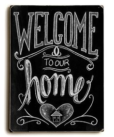 Look what I found on #zulily! Black 'Welcome' Sign #zulilyfinds