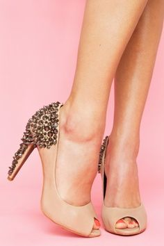 I love these sassy meet sweet Lorissa Spike Pumps by Sam Edelman on NastyGal.com for $195
