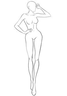 FREE Fashion Templates & Croquis Free figure Bases for fashion design sketches. Large collection of body templates in variety of poses. Pick the best croquis to draw your design on! Fashion Illustration Poses, Fashion Illustration Template, Illustration Mode, Fashion Illustrations, Design Illustrations, Medical Illustration, Portrait Illustration, Fashion Design Sketchbook, Fashion Design Drawings