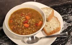 A Gluten-free and Vegan Vegetable Lentil Soup Recipe...and more | What's the Soup