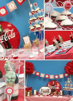 Ice Cream Social Party Package  Red  INSTANT by LemonadeMoments, $15.00