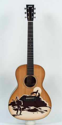 Collings Guitar C10 Acoustic Guitar Stencil-top. That is cool!