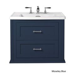 The Imperial Radcliffe Thurlestone Wall Hung 2 Drawer Vanity Unit Lake House Bathroom, Attic Bathroom, Downstairs Bathroom, Bronze Bathroom, Bathrooms, Farrow And Ball Paint, Farrow Ball, Stiffkey Blue, Blue Vanity