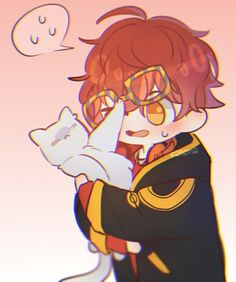 i'm shitty longcat and sometimes i like to draw mystic messenger stuff (especially longcats) enjoy your stay and if you need someone to talk to just do it, Meow Comic Anime, Anime Art, Mystic Messenger Yoosung, Kik Messenger, Luciel Choi, Saeran, Dibujos Cute, Estilo Anime, Shall We Date