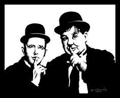 Laurel and Hardy by ATLbladerunner.deviantart.com on @deviantART