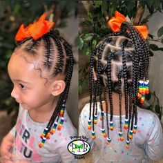 Natural hair, baby hair, and beads 🌈 ———————————————————— Book your PIBS next slay today! (Link in bio) Natural Hair Babies, Little Girls Natural Hairstyles, Toddler Braided Hairstyles, Toddler Braids, Cute Little Girl Hairstyles, Black Kids Hairstyles, Little Girl Braids, Baby Girl Hairstyles, Braids For Kids