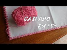 Caseado em crochê trançado com picô por Carine Strieder - YouTube