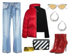 """""""STHLM FW 1"""" by moakarlsvard on Polyvore featuring Off-White, Le Specs, RE/DONE, Frame and All Blues"""