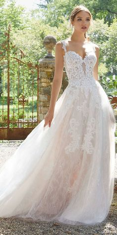 33db481ea0d  226.80  Modest Tulle Sweetheart Neckline A-line Wedding Dresses With Lace  Appliques