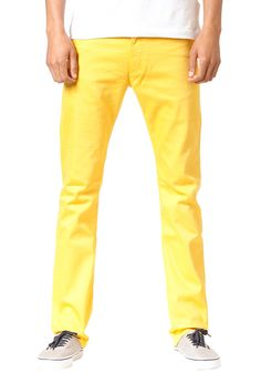 REELL Skin Stretch Pant yellow (plain) #planetsports