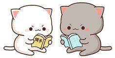 Chibi Cat, Cute Chibi, Cute Cartoon Pictures, Cute Pictures, Cute Cat Gif, Cute Cats, Profile Wallpaper, Cute Cat Illustration, Cat Couple
