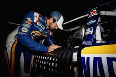 Chase Elliott gettin ready for practice at The Monster Mile!
