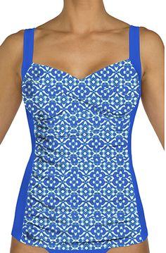 Suit Yourself's > Tops > Sunsets > Shirred Tankini - 600789431233   Suit Yourself