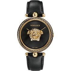 Versace Unisex Palazzo Medusa Watch (€1.470) ❤ liked on Polyvore featuring jewelry, watches, accessories, swiss quartz watches, versace jewellery, unisex jewelry, versace watches and unisex watches