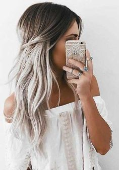 71 most popular ideas for blonde ombre hair color - Hairstyles Trends Black To Grey Ombre Hair, Silver Ombre Hair, Best Ombre Hair, Ombre Hair Color, Cool Hair Color, Grey Blonde, Grey Ambre Hair, Brown And Silver Hair, Long Silver Hair