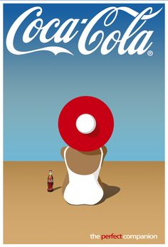 Coca-Cola Ad Indesign/Photoshop project. Inspired by vintage Perrier and Orangina posters.