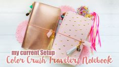 *** OPEN ME FOR DETAILS *** Sharing my current Setup of my Webster's Pages Color Crush Travelers Notebook * (http://websterspages.com/color-crush-personal-pl...