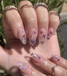 Oval Acrylic Nails, Almond Acrylic Nails, Summer Acrylic Nails, Almond Nail Art, Pastel Nails, Aycrlic Nails, Swag Nails, Bling Nails, Stiletto Nails