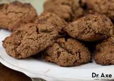 Almond Butter Chocolate Cookies. I just love cookies! http://www.draxe.com #draxe #healthycookies #almondbutter #chocolatecookies