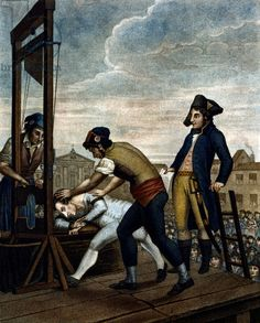 Death of Maximilien de Robespierre, guillotined in Paris (1794)