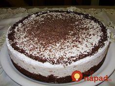 Výborný nápad na tortu, ktorá je bez jediného gramu múky. Sweet Desserts, Tiramisu, Ham, Cheesecake, Paleo, Food Porn, Low Carb, Gluten Free, Cooking Recipes