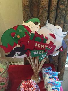 Maria S's Birthday / Santa's Workshop - Photo Gallery at Catch My Party Christmas Pajama Party, Christmas Birthday Party, Christmas Pajamas, Polar Express Party, Childrens Christmas, Christmas Holidays, Country Christmas, Christmas 2019, Office Christmas Decorations