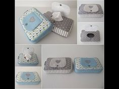 Tutorial Porta Toallas Humedas Paso a Paso Baby Sewing Projects, Sewing Tutorials, Sewing Crafts, Tissue Box Covers, Tissue Boxes, Diaper Bag Organization, Patchwork Baby, Baby Co, Pouch Pattern