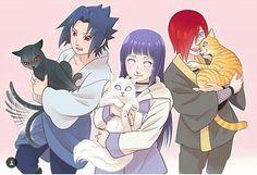 Sasuke, Hinata, Nagato, cats, neko, cute, funny; Naruto