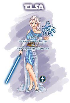 Jedi Disney Princess Elsa by White-Magician.deviantart.com on @deviantART