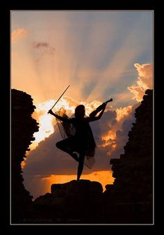 As the sun goes down it is time to dance to the music.