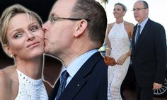 Three's a crowd: Prince Albert takes new wife Charlene for honeymoon lunch (but South African president Jacob Zuma comes along too)