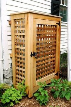 Good for hiding ugly things in the yard such as garbage/recycling bins, garden hose, etc. by Nestar