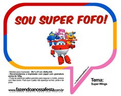 Plaquinhas Divertidas Super Wings 34