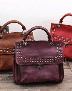 5a641a8a0dd3 Luxury Rivet Genuine Leather Female Handbag Women Sheepskin Messenger Bags  Boston Women Crossbody Bags Ladies Shoulder Bag Sac Wholesale Price +  Coupon ...