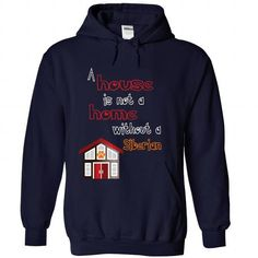 House and Siberian T Shirts, Hoodies. Check price ==► https://www.sunfrog.com/Pets/House-and-Siberian-NavyBlue-31292149-Hoodie.html?41382 $39