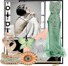 """""""Art Deco fashion set"""" by lindacaricofe ❤ liked on Polyvore"""