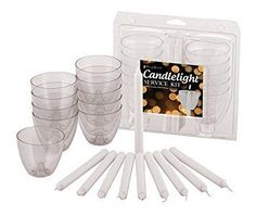 Taper Candles, Candle Wax, Glass Of Milk, Place Card Holders, Kit, Products, Gadget