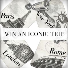 Where will you go today? You and a friend could be heading to NYC, Paris, London or Rome with a $1000 WHBM gift card! Enter for your chance to win now.