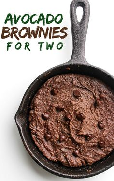 Avocado Brownies for Two | gluten free, dairy free, and paleo recipe @asaucykitchen
