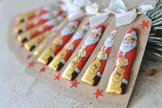 Stamped – Bettina and Maria: Santa Claus was there … – Christmas – … - Weihnachten Secret Santa Christmas Gifts, Funny Secret Santa Gifts, Homemade Christmas Gifts, Holiday Gifts, Christmas Gift Wrapping, Christmas Paper, Christmas Crafts, Christmas Decorations, Secret Santa Gift Exchange
