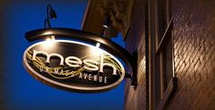After a day of shopping, stop in at Mesh on Mass Avenue for a unique dining experience #2013LG