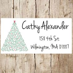 Christmas return address labelchristmas address by Labelin on Etsy Mailing Address Labels, Custom Return Address Labels, Christmas Return Address Labels, Return Address Stickers, Custom Labels, Wedding Favor Labels, Party Labels, Personalized Stickers, Custom Stickers