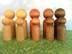 Multicultural Rainbow Wood Peg People Adults and by SillyBabyGoose, $13.00