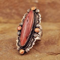 Red and Orange Spiny Oyster Ring